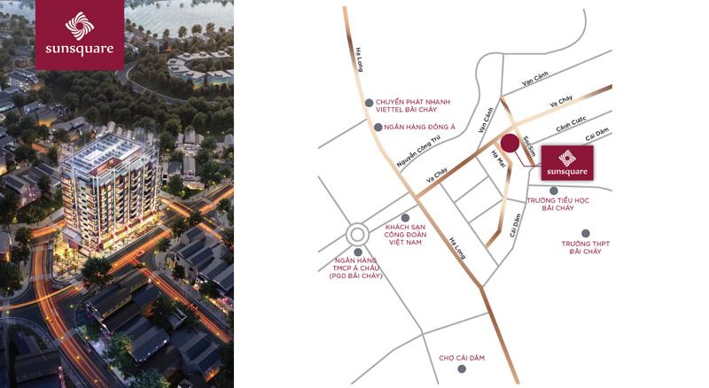 Vị trí dự án chung cư Sun Square Hạ Long